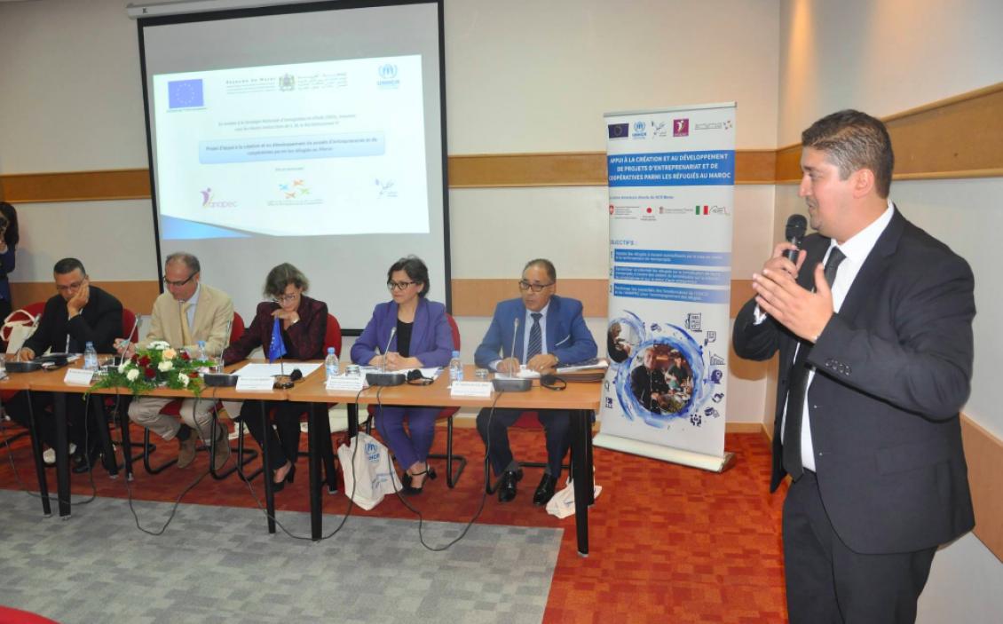 """L'Office de Développement de la Coopération (ODCO) participe à La cérémonie de lancement du """"projet d'appui à la création et au développement de projets d'entreprenariat et de coopératives parmi les réfugiés au Maroc"""""""