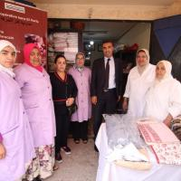 السيد يوسف الحسني مدير مكتب تنمية التعاون يقوم بزيارات ميدانية للتعاونيات