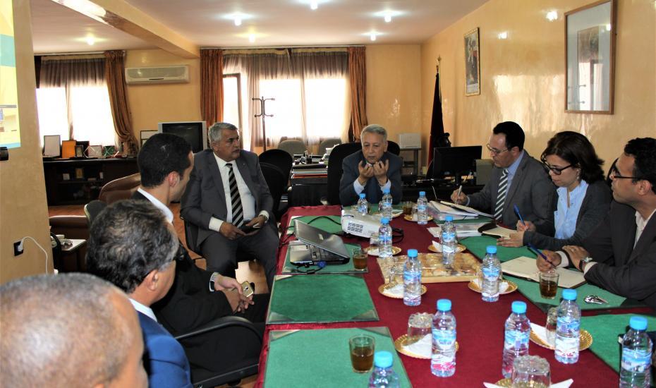 Monsieur Mohamed Sajid, Ministre du Tourisme, du Transport aérien, de l'Artisanat et de l'Economie Sociale a visité l'Office du Développement de la Coopération
