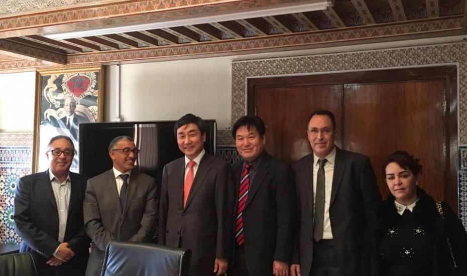 Accueil d'une délégation coréenne  au siège du Ministère de l'Artisanat et de l' Économie sociale et solidaire.