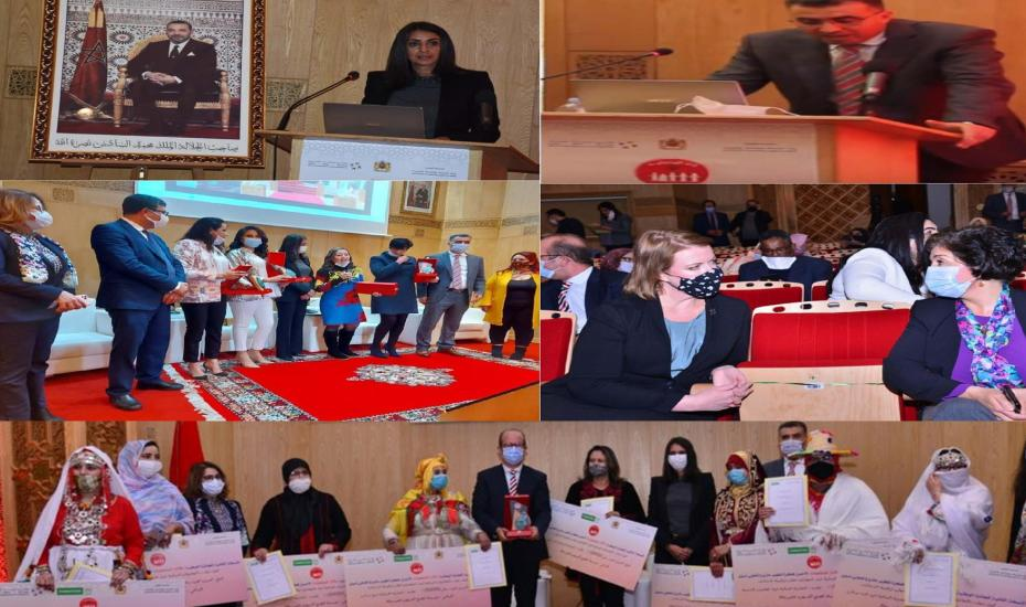 Consécration de 25 coopératives féminines du prix national «Lalla Al  Moutaaouina» de la meilleure idée de développement d'un projet coopératif féminin.